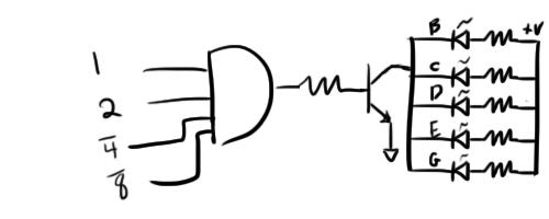 transistor clock part 3  binary counter and 7